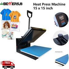 15 X 15 Digital Clamshell Heat Press Transfer Machine T Shirt Sublimation Press