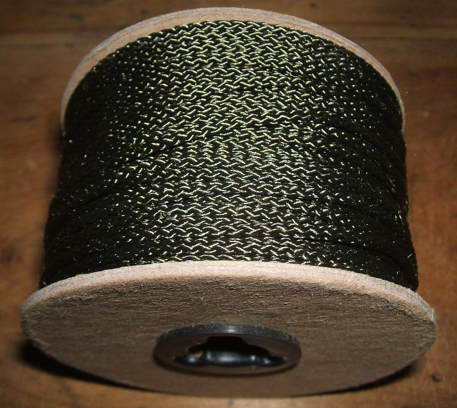 3 32  x 500' Diamond Braid Olive Drab Polyester   Dacron Cord - Twine - String