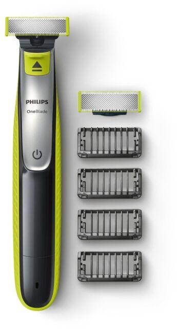 Philips One Blade Trimmen,Stylen Rasieren 4 Trimmeraufsätze 1 Ersatzklinge