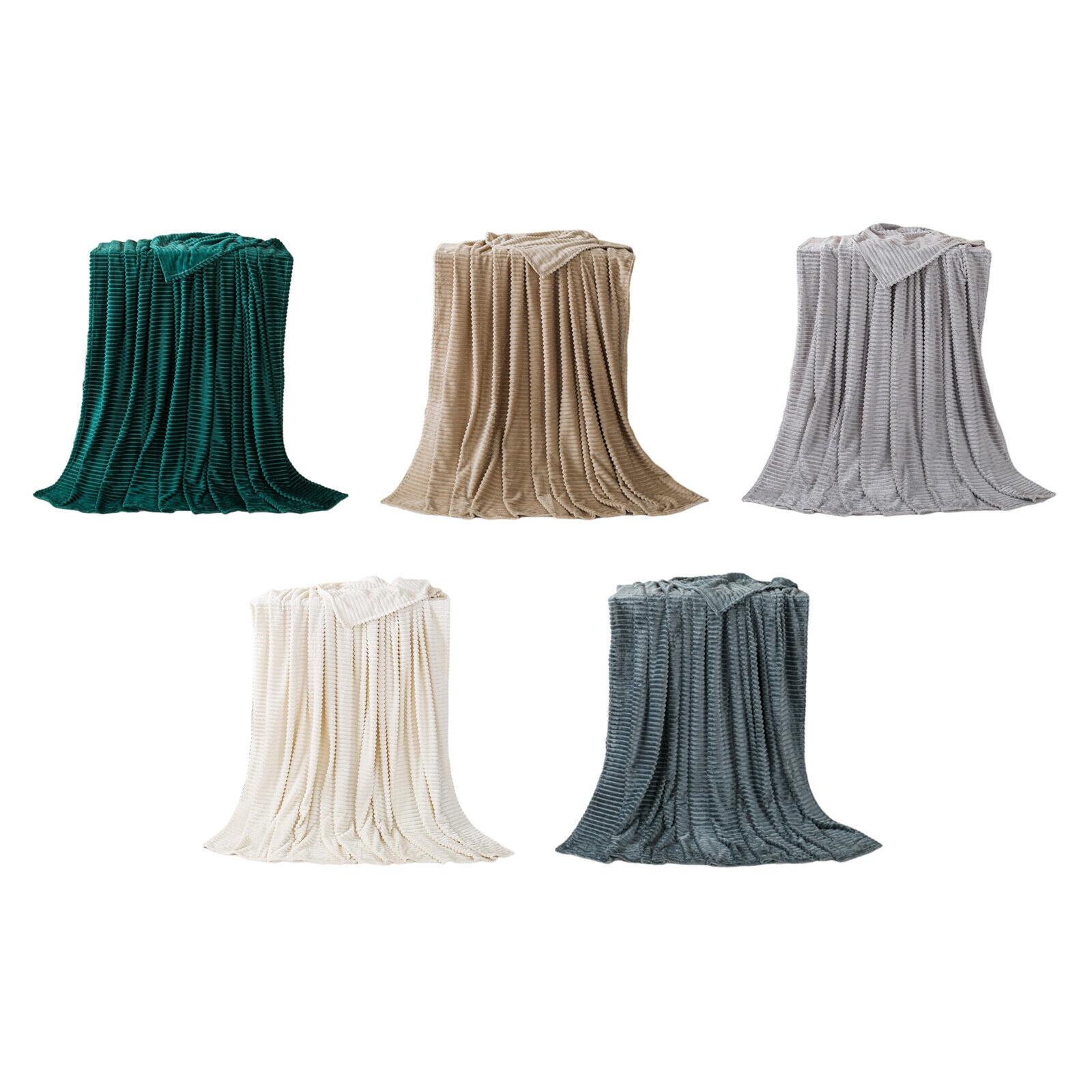 Weiche Flanelldecke Stripe Coral Fleece Multifunktions-Heimsofa Büro