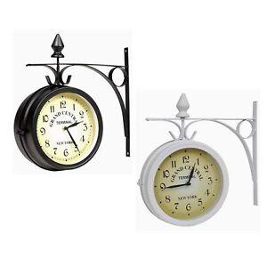 Outdoor Garden London Wall Clock Outside Bracket 20cm