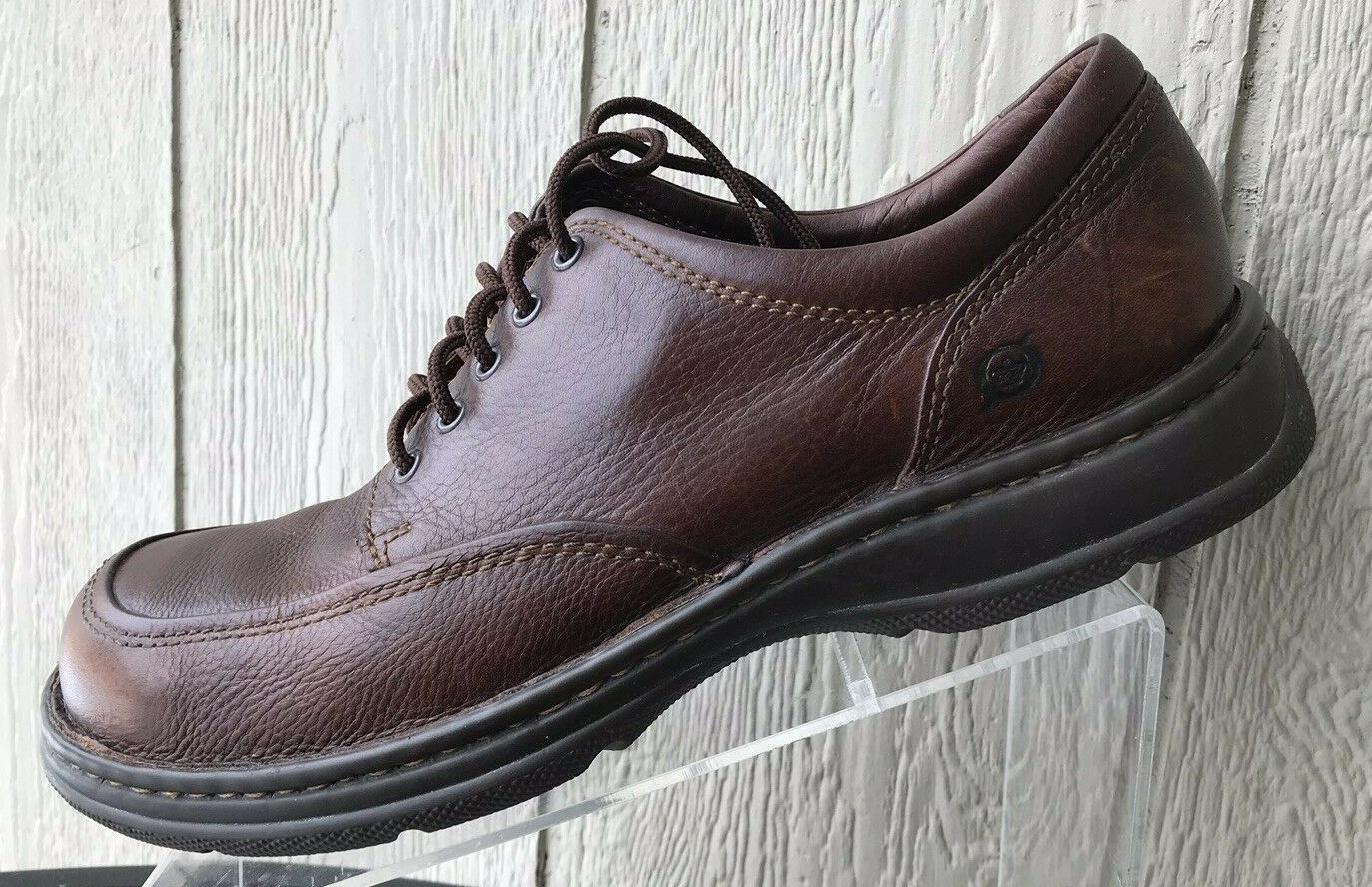 Mens Born Brown Leather Lace Up Oxford shoes Size US 11.5