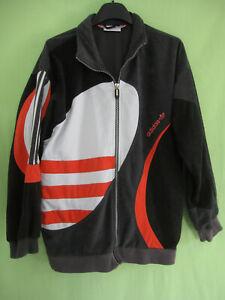 Détails sur Veste Adidas années 80'S Vintage velour Noir gris rouge 80'S jacket 162