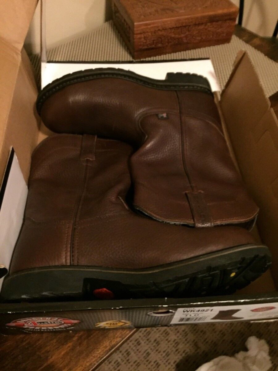 Justin mens work boots. Steel toe size 11