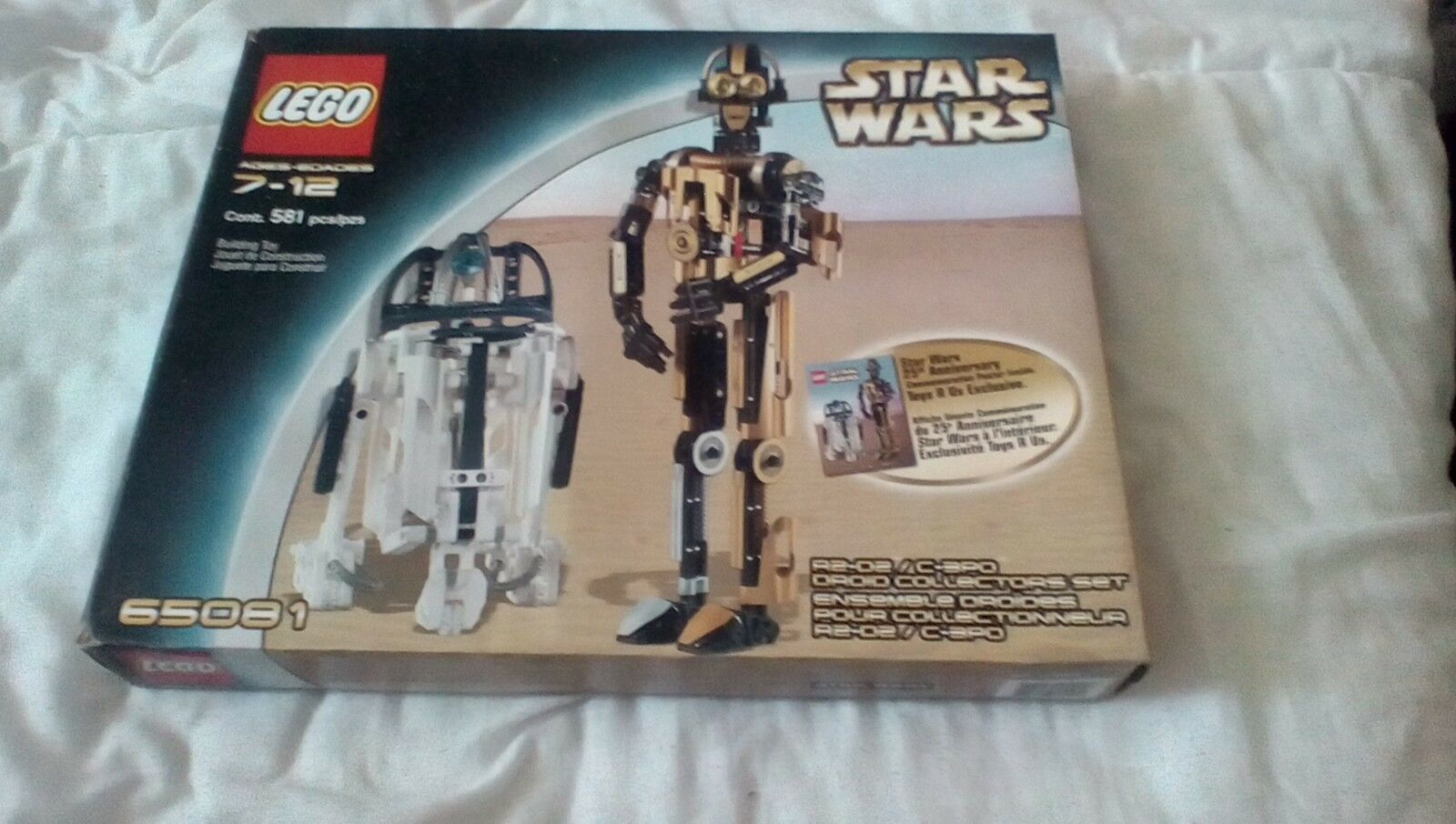 LEGO STAR WAR 65081R2-D2 C-3PO 25TH ANNIVERSARY NEW SEALED BOX VERY RARE ITEM