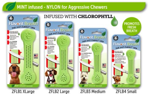 """FLAVORIT Heavy Duty /""""Flavored/"""" Chew Bone  Molded cells to Fill with Treats"""