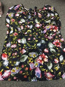 J.Crew Scoopneck Beach Tunic In Floral Style:K5050 Size:Small FREE SHIPPING!
