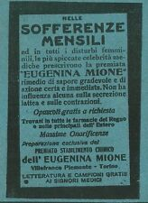 W5229 Eugenina MIONE per sofferenze mensili - Villafranca P.te - Pubblicità 1917