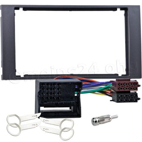 Radio Blende Doppel 2 DIN für FORD Focus II C S-Max Fiesta Fusion Adapter Kabel