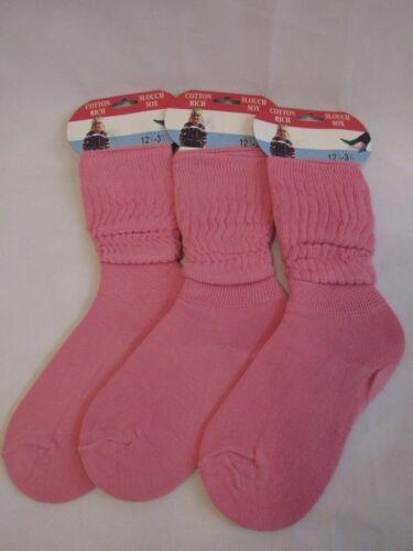 New Slouch socks pink white ivory yellow blue  kids children cotton blend
