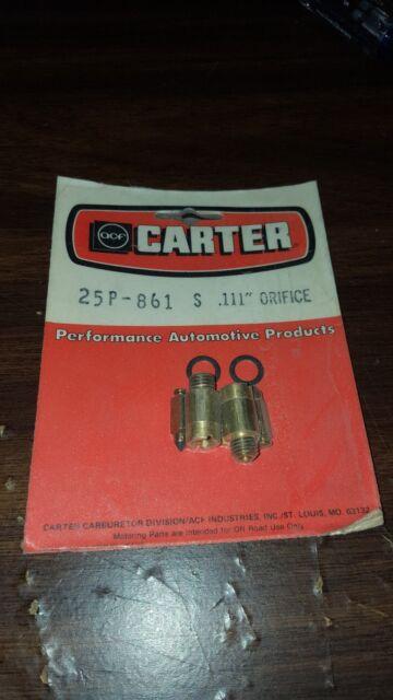 Details about 2 Carter AFB Edelbrock 1405 1406 1407 Orifice Main Jet Pair  120P-404  104