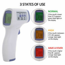 Infrarot Fieberthermometer Baby/Erwachsene Kontaktlos 3 Farben Anzeige Digital