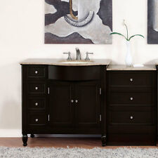 "58"" Travertine Top Single Bathroom Vanity (Sink on the Right Hand Side) 902T"