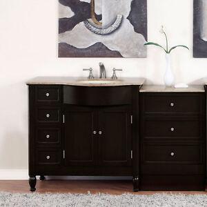 Image Is Loading 58 034 Travertine Top Single Bathroom Vanity Sink