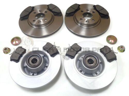 RENAULT MEGANE MK2 CC FRONT AND REAR BRAKE DISCS /& PADS WHEEL BEARINIGS ABS RING