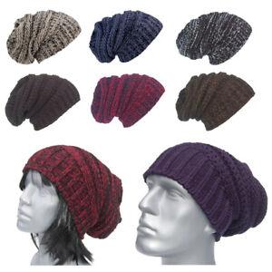 Cool4-Herbst-Winter-Strick-XXL-Slouch-Lang-Beanie-Wintermuetze-Unisex-Muetze-E27