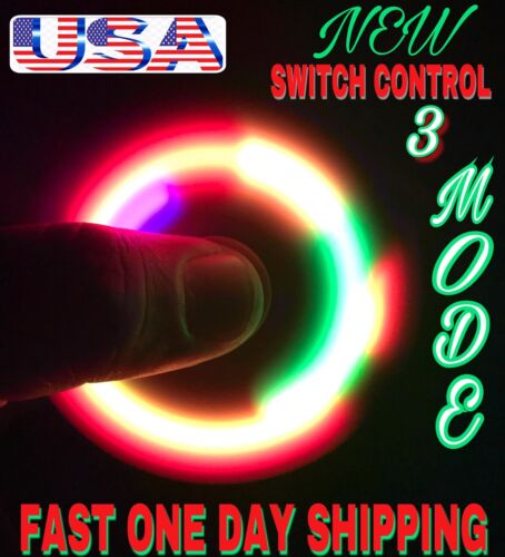 ,CHRISTMAS GIFTS LOT OF 100 X SWITCH CONTROL 3 MODES LED SPINNER FIDGETS
