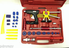 PROFESSIONAL GLUE PULLING DENT KIT & CLEAR GLUE - PAINTLESS DENT REMOVAL TOOLS