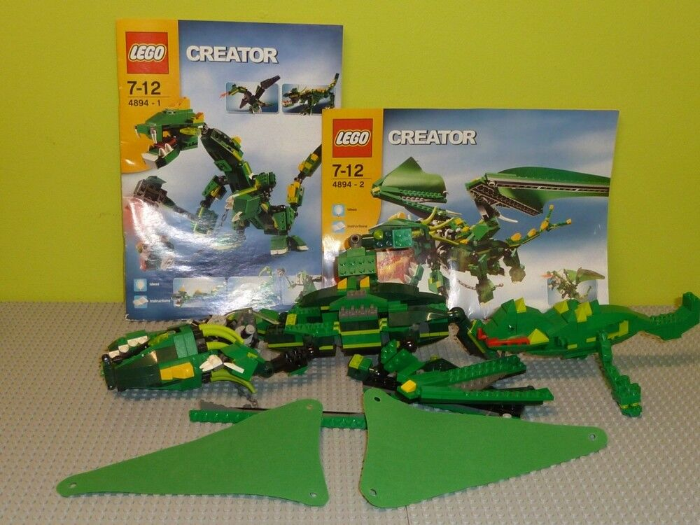 LEGO ® Creator 4894 Mythical Creatures DRAGO M. recipe incomplete r1278