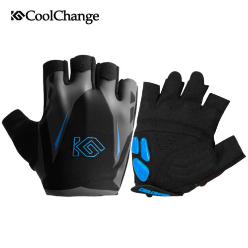 Unisex Cycling Half Gloves Bike Bicycle Riding Short Finger Gel Glove Shockproof