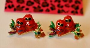 Betsey-Johnson-Crystal-Rhinestone-Enamel-Post-Earrings-Birds