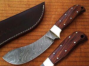 Nessmuk Custom Damascus Buffalo Skinner Knife Cocobolo