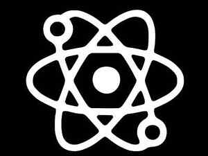 Atomic Symbol Atom Nerd Sign Logo Car Truck Suv Rear Window Glass Decal Sticker Laptop V2 MANY SIZES and COLORS
