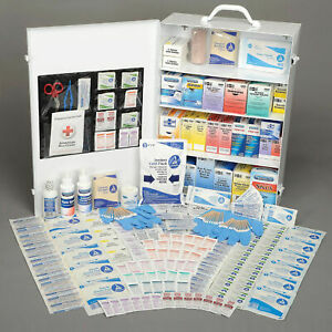 Pac-Kit® 100 Person First Aid Station, 4-Shelf Industrial