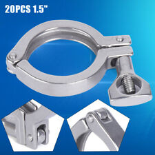 15 Tri Clamp Clover Sanitary Stainless Steel For 64mm Od Ferrule Flange New