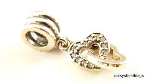 418bd874d Authentic PANDORA Interlocking Love Clear CZ Charm Bead 791242cz H17 ...