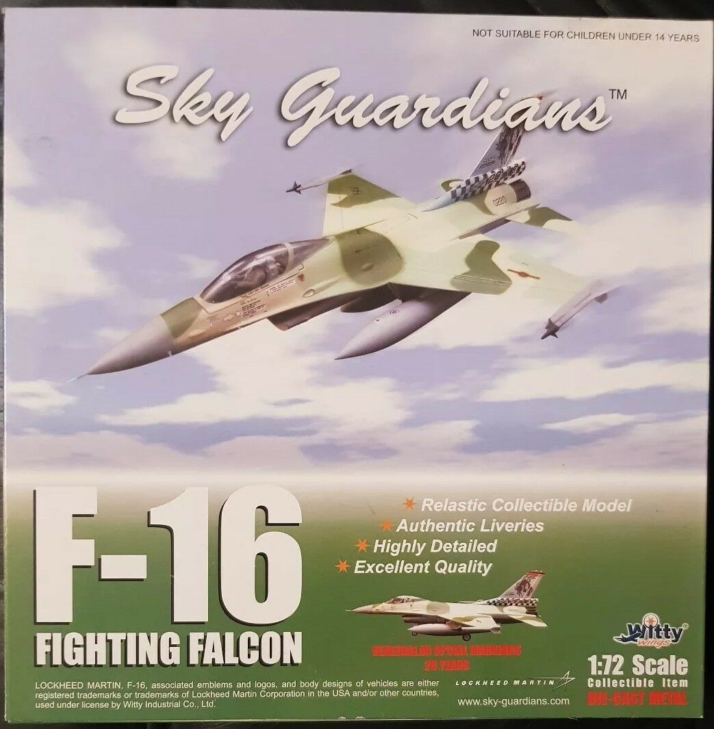 Sky Guardians Witty Wings F-16 Venezualan Specials Markings 20Yrs WTW-72-010-010
