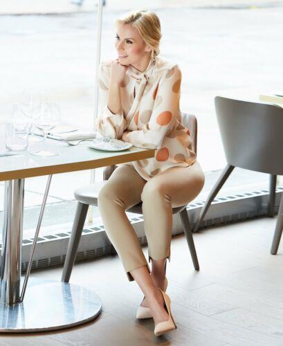 Womens Black Grey Beige Up Pants Cavalli Step Hem Trousers UK Size 8-18