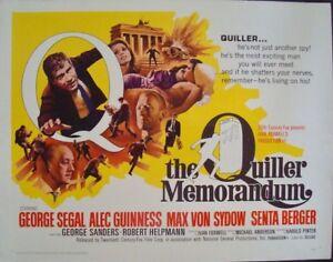 QUILLER MEMORANDUM half sheet movie poster 22x28 ALEC ...