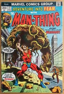 The-MAN-THING-17-1973-MARVEL-Comics-GD-Comic-Book