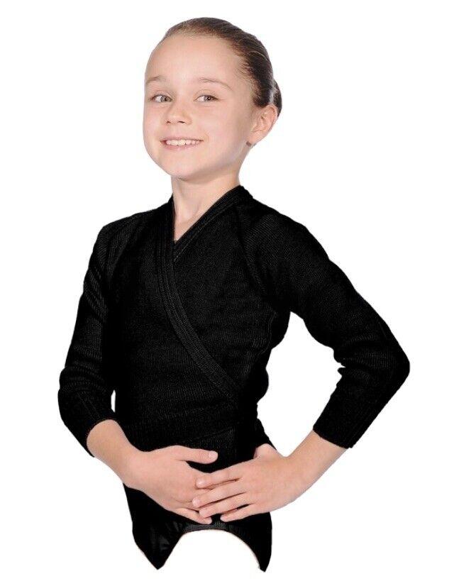 "Wool Warm-up Dance cardigun Black Size 30""Wedding / Christening Too"