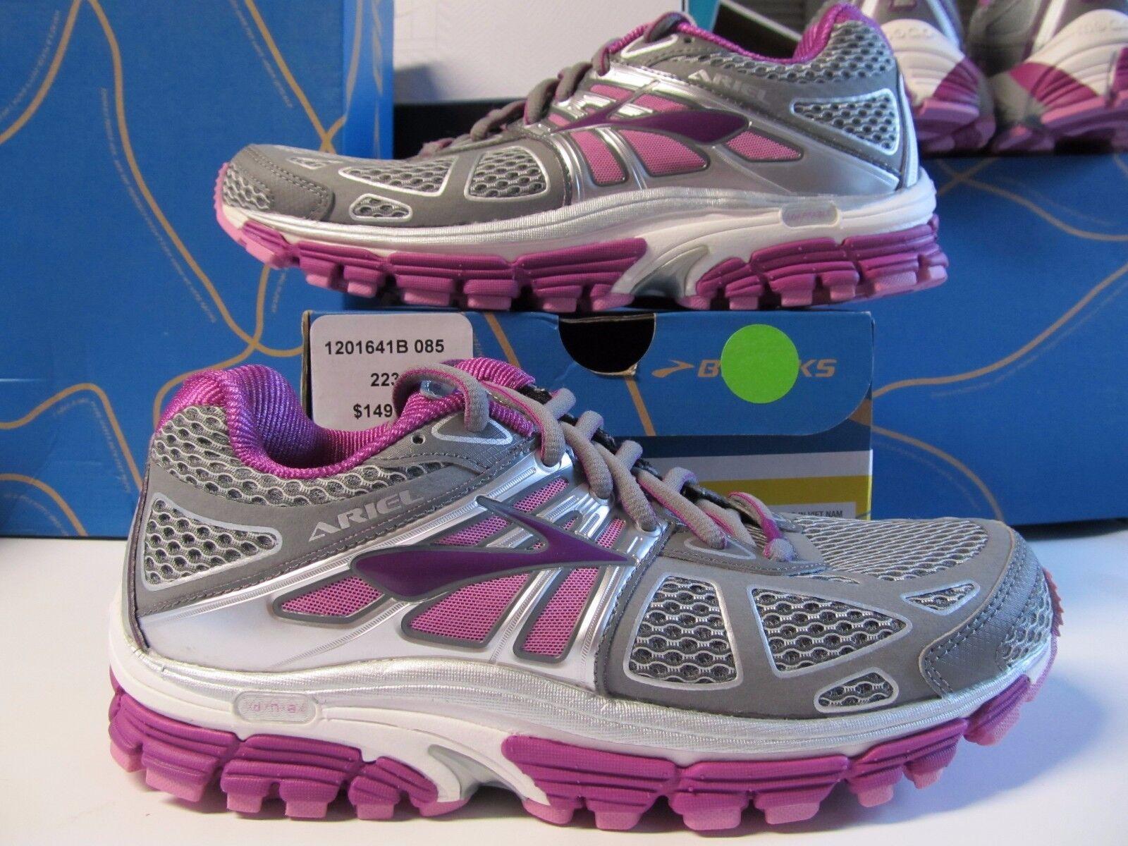 Nouveau Haut Brooks Ariel 14  150 Pearl Rose Violet Argent 6 Chaussures De Course 16 18
