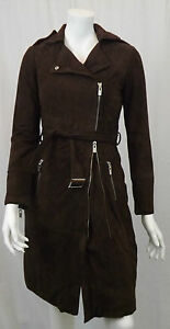 9351 Dk 6 V Suede Brown Coat Itl 38 Veronica Damiani Uk 34 6qwYfFqH