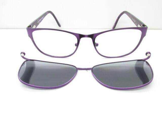 0c1892de22 Easyclip EC314 Eyewear Frames Clip-on 52-18-135 Purple Rectangle Tv6 ...