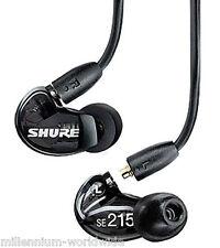 NEW - SHURE SE215-K SOUND ISOLATING PRO EARPHONES, DJ MONITORING EARBUDS / BLACK