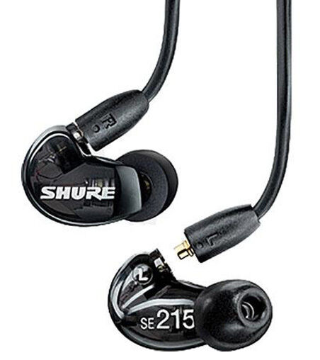 f4e8e992899 SHURE SE215-K SOUND ISOLATING PRO EARPHONES, DJ MONITORING EARBUDS / BLACK