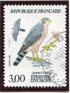 Stamp / Timbre France Oblitere N° 2339 Faune Epervier / Photo Non Contractuelle PréVenir Et GuéRir Les Maladies