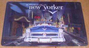 """CHRYSLER """"NEW YORKER"""", Blechschild, USA, NEU"""