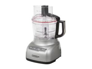 KitchenAid-KFP0922CU-Contour-Silver-9-Cup-Food-Processor-with-ExactSlice-System