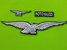 MOTO GUZZI KIT ARGENTO PATCH TOPPE RICAMATE TERMOADESIVE