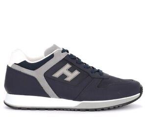 Sneaker-Hogan-H321-in-pelle-blu-e-grigia