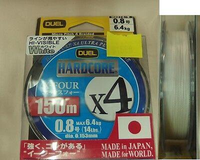 Braided line YO-ZURI DUEL HARDCORE X4 150m/165yds White made in Japan
