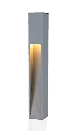 Wegeleuchte Aussenstehleuchte Kaan 75cm silbergrau E27 10272
