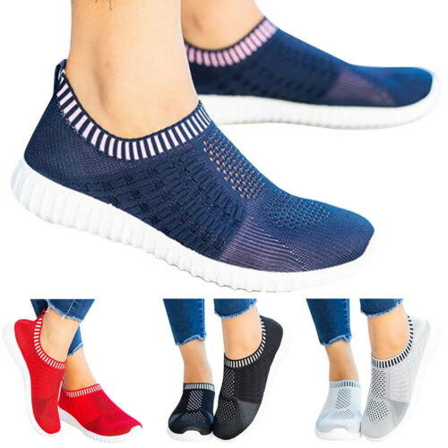 Details about  /Womens Breathable Mesh Flat Shoes Pump Trainer Sneakers Knit Socks Sport Loafers