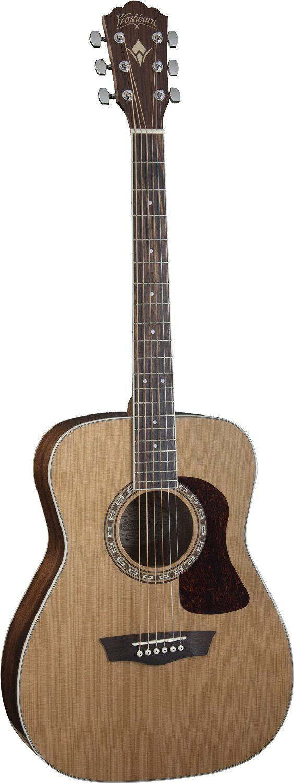 Washburn HF11S Heritage Series Folk Acoustic Guitar - Natural Gloss