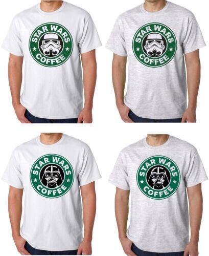 Star Wars Parody Starbucks Coffee T Shirt Darth Vader Storm Trooper Funny Fest